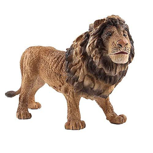 TNGCHI Big Lion Model Toy Creative Simulation Wild Animal Statue Children Toys Home Decoration Ornaments,1PC