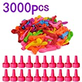 Goshfun 3000 Pcs Water Ballons Refill Kit Instant Water Latex Water Bomb Ballons Summer Splash Fun for Kids Adults - Colorful