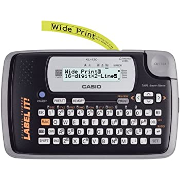 CIOKL120L - CASIO KL120L 16-Digit, 2-Line Label Printer