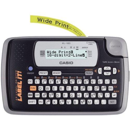 CIOKL120L - CASIO KL120L 16-Digit, 2-Line Label Printer Casio Keyboard Printer