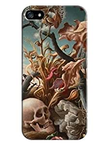 Iphone 5 case Fashion Skull case hard Shell Case with plant for iPhone 5