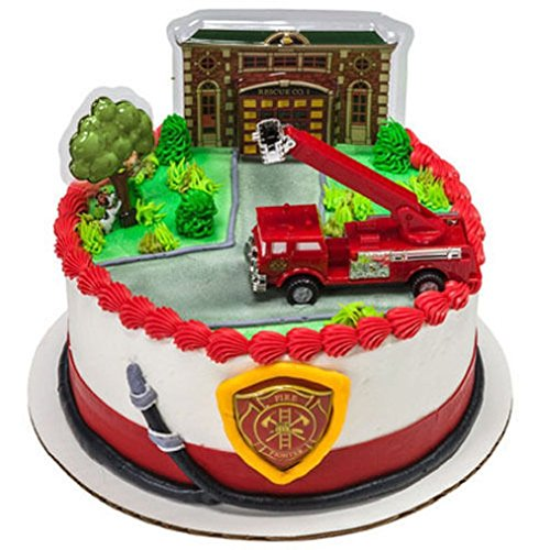 Incredible Firetruck Cake Toppers Shop Firetruck Cake Toppers Online Personalised Birthday Cards Arneslily Jamesorg