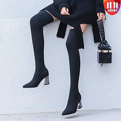 Stivali Lunghi con Tacchi Alti per Le Donne Autunno e