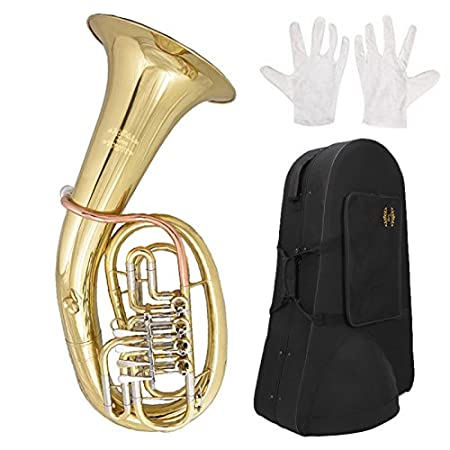 Glory GEU4 Brass B Flat 4key Valve Euphonium with Stainless Steel Pistons,Mouthpiece,Case, Click to see more Choice