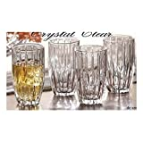 Crystal Clear Alexandria Hiball Glasses, Set of 4
