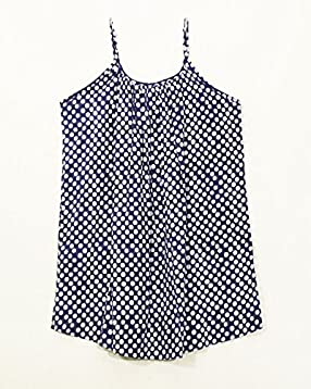 6dbcdbeb7062e6 Sivalya Polka Dots 100% Organic Cotton Spaghetti Adjustable Straps Top