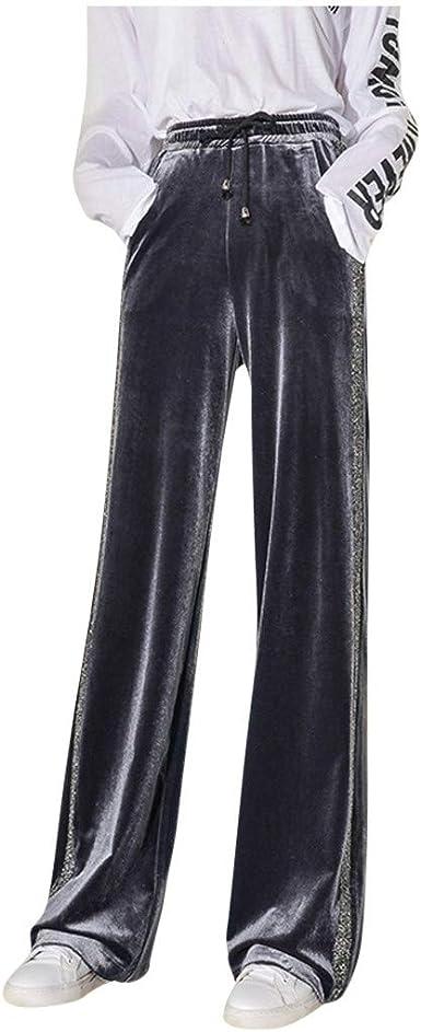 manadlian Pantalons Femme Leggings Casual Pantalon de Sport