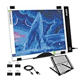 Photo : Mlife B4 LED Light Pad Kit - Upgraded Diamond Painting Light Box Dimmable Tracing Light Board, Sketching, Animation, Drawing Light Box with 4 Fasten Clips and Metal Stand