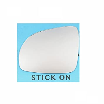 Passenger Side The Wing Mirror Company GL673-VZ Silver Wing Door Mirror Glass LH