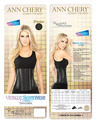 7b5124f49a AnnChery 2045 Metallic Waist Trainer Trimmer Shapeware-3Hook Latex Waist  Cincher  Amazon.ca  Clothing   Accessories