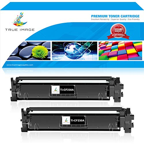 Hp Laserjet Stand Printer (TRUE IMAGE Compatible Toner Cartridge Replacement for HP CF230A 30A CF230A 30X CF230X Toner for HP Laserjet M227fdw M203dw M277fdn M203dn M203d M227d M227sdn M203 M277 Priner Toner (Black, 2Packs))