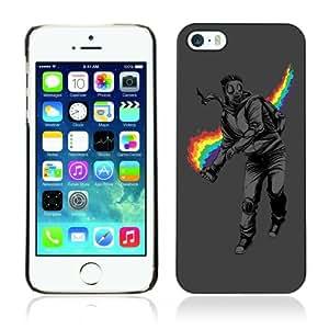 CaseCaptain Carcasa Funda Case - Apple iPhone 5 / 5S / Rainbow Rebel Cool Illustration /