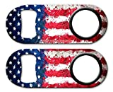 BarConic Mini Opener with Retractable Reel - Grunge US Flag
