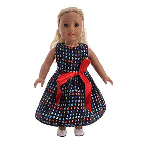 - callm Doll Clothes Outfits New Printing Skirt for All 18 inch Dolls Lovely Doll Girl Toy Accessory Gift