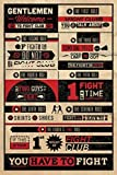 Your Space UK Fight Club Rules Infographic Maxi Size Wall Poster 61Cm X 91.5Cm