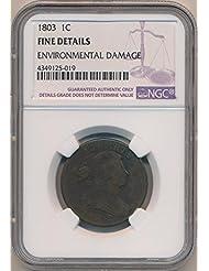 1803 P Large Cent Cent Fine Details NGC