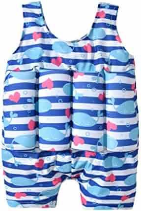 a90c07eeec8e5 KONFA Baby Boys Girls One Piece Swimsuit Bathing Suit Little Kids/Toddler  Swimwear Life Jacket