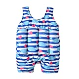KONFA Baby Boys Girls One Piece Swimsuit Bathing Suit Little Kids/Toddler Swimwear Life Jacket Romper Swim Vest Cover Up (Blue, 12-18 Months)