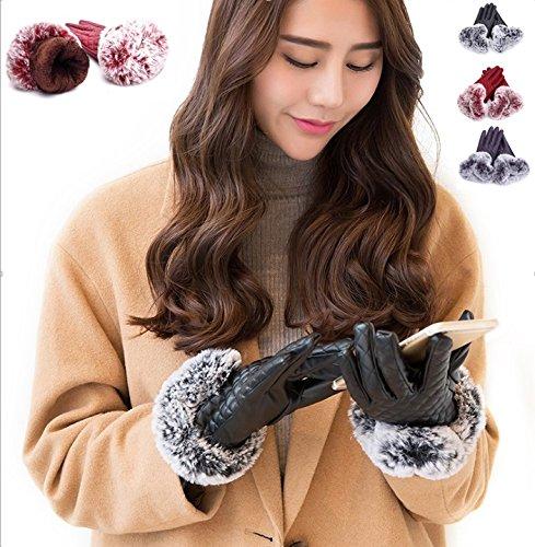 NICE SELECTION (ナイスセレクション)手袋 レディース スマホ PFレザー 裏起毛