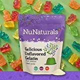 NuNaturals Premium Unflavored Gelatin Powder, Grass-Fed, Pasture-Raised, Paleo, Pure Beef Gelatin Powder, Sugar Free (1 lb)