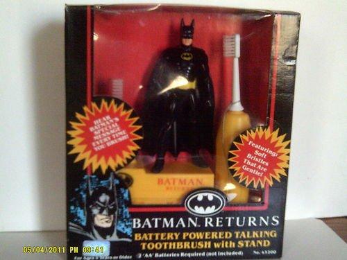 Vintage 1992 Batman Returns Battery Powered Talking Toothbru