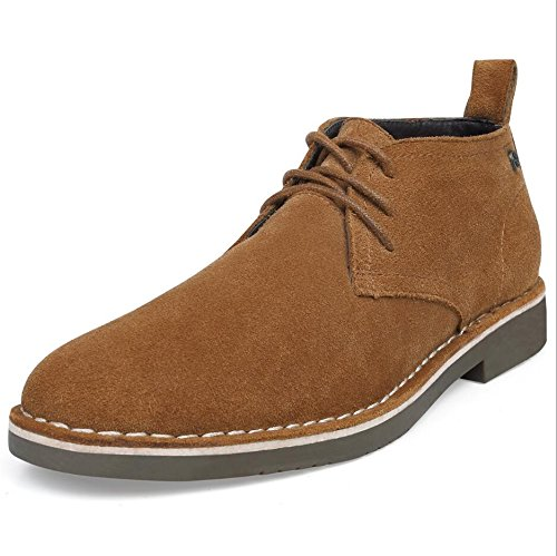 (SEMANS Men's Suede Chukka Boot Casual Lace Up Desert Boot Ankle Shoes Stylish Fashion Fit Comfortable Leather Shoes Brown 10 D (M) US)