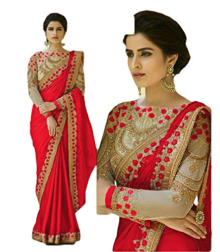 New REKHA Ethnic Wear Indian Traditional Designer Saree with Embroidery Work Party Wear Sari 04 Saree 2