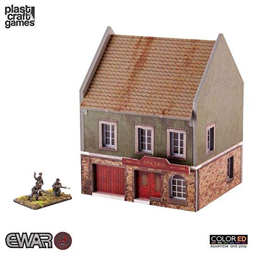EWAR WWII Colored Miniature Gaming Model Kit 15 mm Grocery Store Plast Craft ()