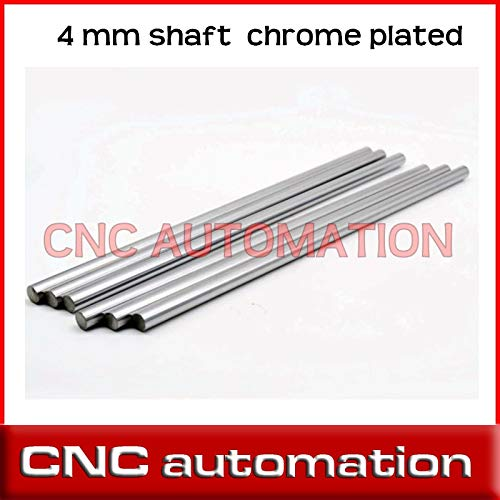 Length: 280 mm Ochoos 2pcs Axis 280 300 mm Smooth Rods 4 mm Linear Shaft Rail 3D Printers Parts Chrome Plated Guide Slide Part