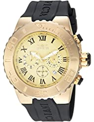 Invicta Mens Pro Diver Quartz Stainless Steel and Polyurethane Casual Watch, Color:Black (Model: 24844)