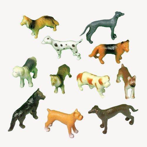 2 Dozen (24) Mini Plastic DOG Figures/PUPPY TOYS/Birthday PARTY FAVORS/Prizes/CUPCAKE Toppers/Teacher Rewards