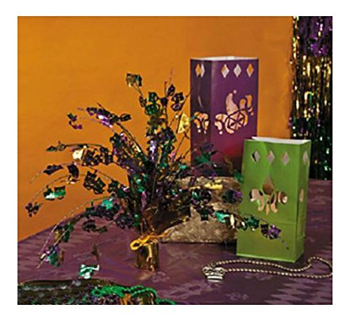 12 MARDI GRAS Fat Tuesday Masquerade Party Decoration LUMINARY BAGS