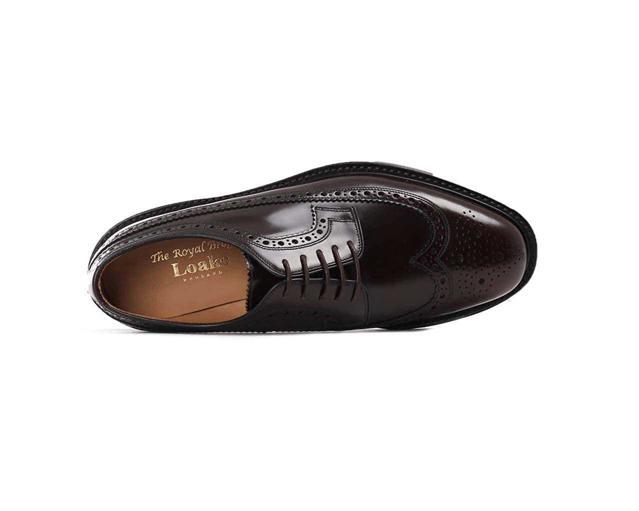 loake STRINGATA UOMO LOAKE ROYAL BROGUE DERBY BURGUNDY
