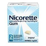 Nicorette 2mg Nicotine Gum to Quit Smoking