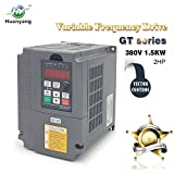 Vector Control CNC VFD Variable Frequency Drive Motor Drive Inverter Converter 380V 1.5KW 2HP For Spindle Motor Speed Control HUANYANG GT-Series (380V, 1.5KW)