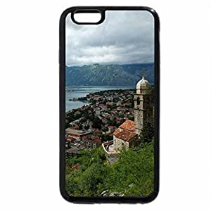 iPhone 6S / iPhone 6 Case (Black) view of a river scene from a church