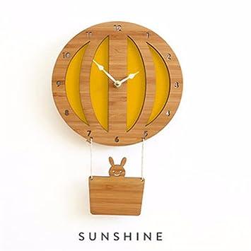 Werlm Personlichkeit Design Home Decor Wall Clock Kunst Uhr Bambus