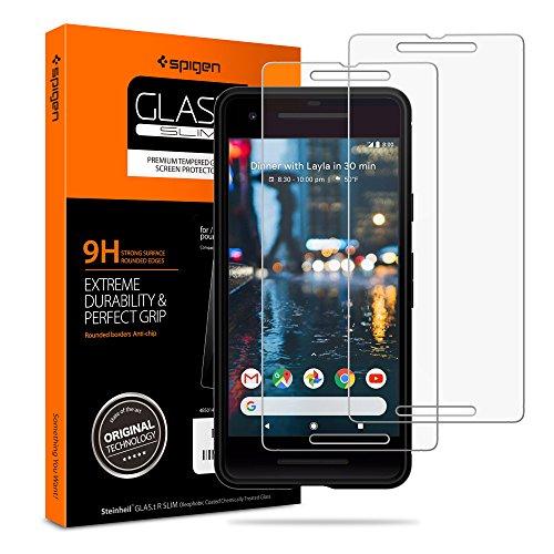 Spigen Tempered Glass Pixel 2 Screen Protector [ Case Friendly ] [ 9H Hardness ] for Google Pixel 2 (2017) (2 Pack)