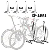 CyclingDeal Adjustable 4 Bike Floor Parking Rack Storage Stand Bicycle