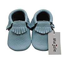 Mejale Baby Soft Soled Leather Moccasin Tassel Slip on Infant Toddler Shoes P...