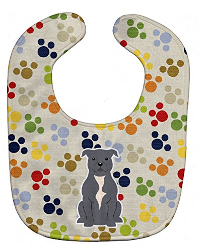 Caroline's Treasures Pawprints Baby Bib, Staffordshire for sale  Delivered anywhere in Canada