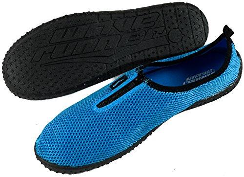 SLR MARKEN Mens Zipper Wasser Schuhe Aqua Socken Zapatos de Agua Türkis