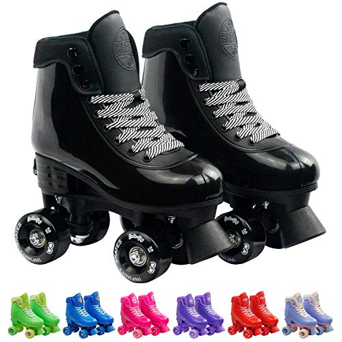 Infinity Skates Adjustable Roller Skates for Girls and Boys - Soda Pop Series (Black/Medium)