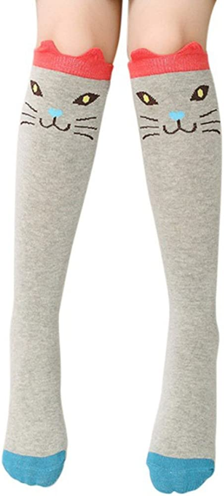 Blaward Baby Kinder Kniestr/ümpfe Niedlichen Tier Drucke Baumwolle Lange Socken f/ür M/ädchen 3-12Years