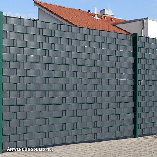 Videx Visión – Tiras para vallas, PVC imitación de madera, H: 9, 5 x l: 250 cm, Antracita: Amazon.es: Jardín