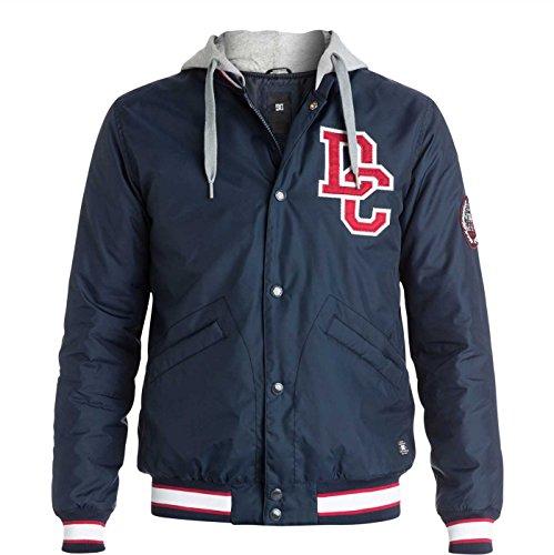 DC EDYJK03038 Mens Colwood Varsity Jacket, Black Iris-L