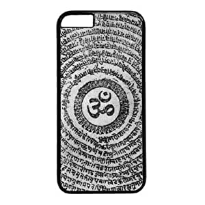 """Lilyshouse Om Symbol Design 004 Hard Shell with Black Edges Cover Case for Iphone 6(4.7"""") by mcsharks"""