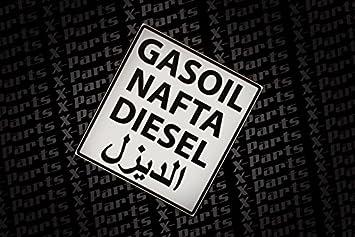 Sticker Diesel Nafta Gasoil Arabic Tank Petrol Sticker