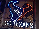 Desung New 20'x16' Houston Go Texan Neon Sign (Multiple Sizes Available) Man Cave Sports Bar Pub Beer Glass Neon Light Lamp CX146
