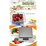 Precision kitchen Scale and food Scale. Silver stainless steel digital food scale with auto-tare function, (measurement range:0.1g-3000g)